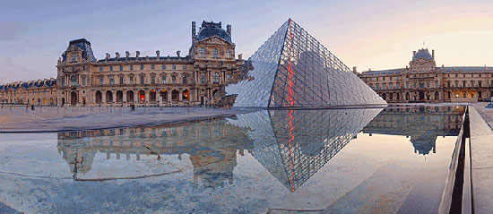Beautiful Louvre museum